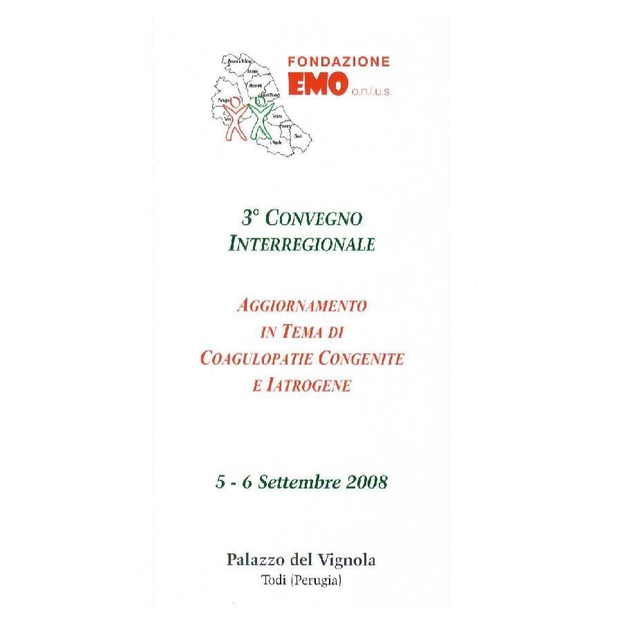 Fondazione EMO - Convegno 2008